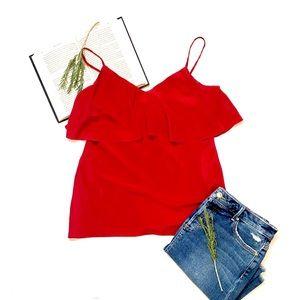 Diane Von Furstenberg | Red Silk Camisole Blouse